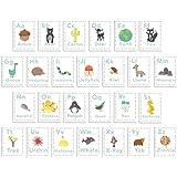 English Alphabet 5x7 Wall Cards, Alphabet Wall, Our World, Nature Themed, Kid's Wall Art, Nursery Decor, Kid's Room Decor, Gender Neutral Nursery Decor