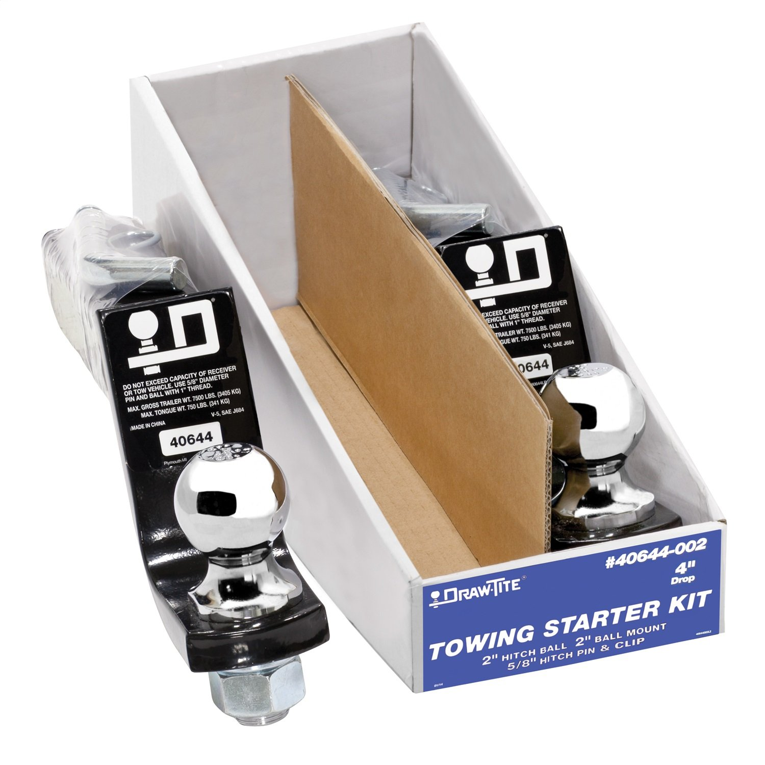 Draw-Tite Towing Starter Kit, w/Quick-Loading 2' Sq. Ball Mount 40644-002 w/Quick-Loading 2 Sq. Ball Mount 40644-002