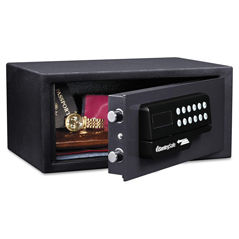 SentrySafe 060ESBLK Security Safe, Medium Digital Lock Safe With Card Swipe, 0.4 Cubic Feet, H060ES