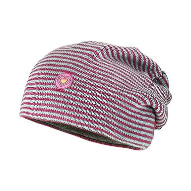 MAXIMO   ondulées Beanie Bonnet en Aqua Sangria pour fille - Rouge ... 34210415cdc