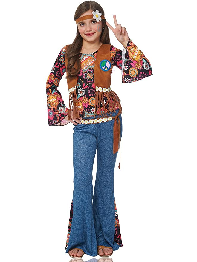 Hippie Dress | Long, Boho, Vintage, 70s Franco American Novelty Company Peace Out Child Costume $38.37 AT vintagedancer.com