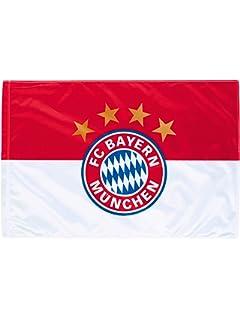 FC Bayern Fahne mit Druckmotiv