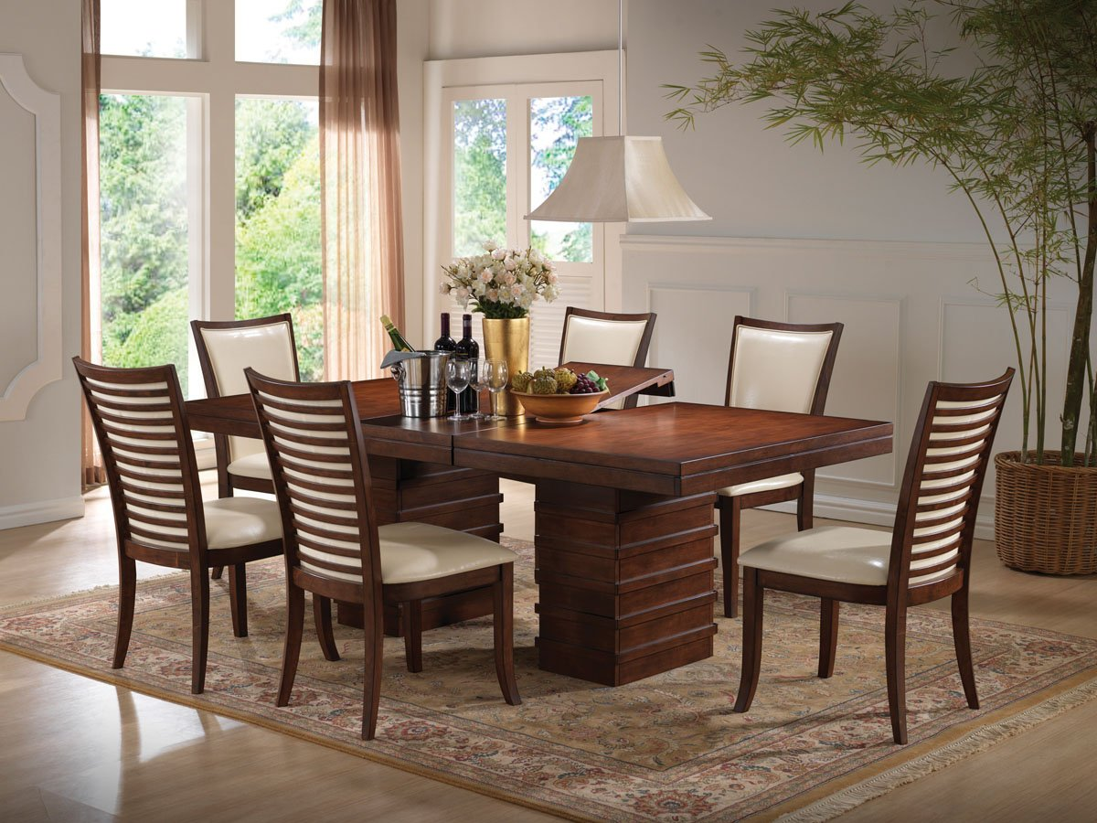 Amazon.com - Acme 70020 Pacifica Dining Table, Cherry Finish - Tables
