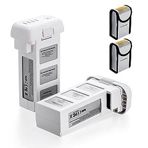 Powerextra 2-Pack 15.2V 4480mAh LiPo Intelligent Replacement Flight Battery +...