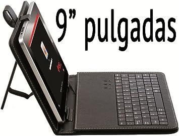 Funda de tablet con teclado de 9