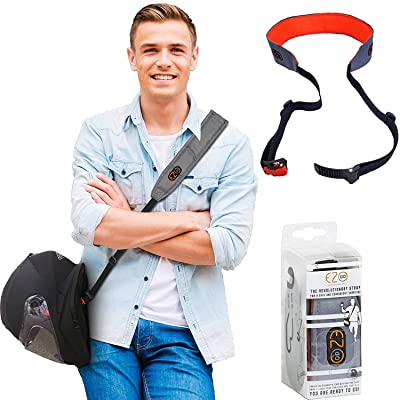 Motorcycle Helmet Carrier Strap - Hands-Free, Motorbike Accessory. Convenient, Lightweight and Comfortable Alternative to Helmets Bag or Backpack. A Perfect Biker Gift For Men and Women. Gray By EZ-GO: Automotive