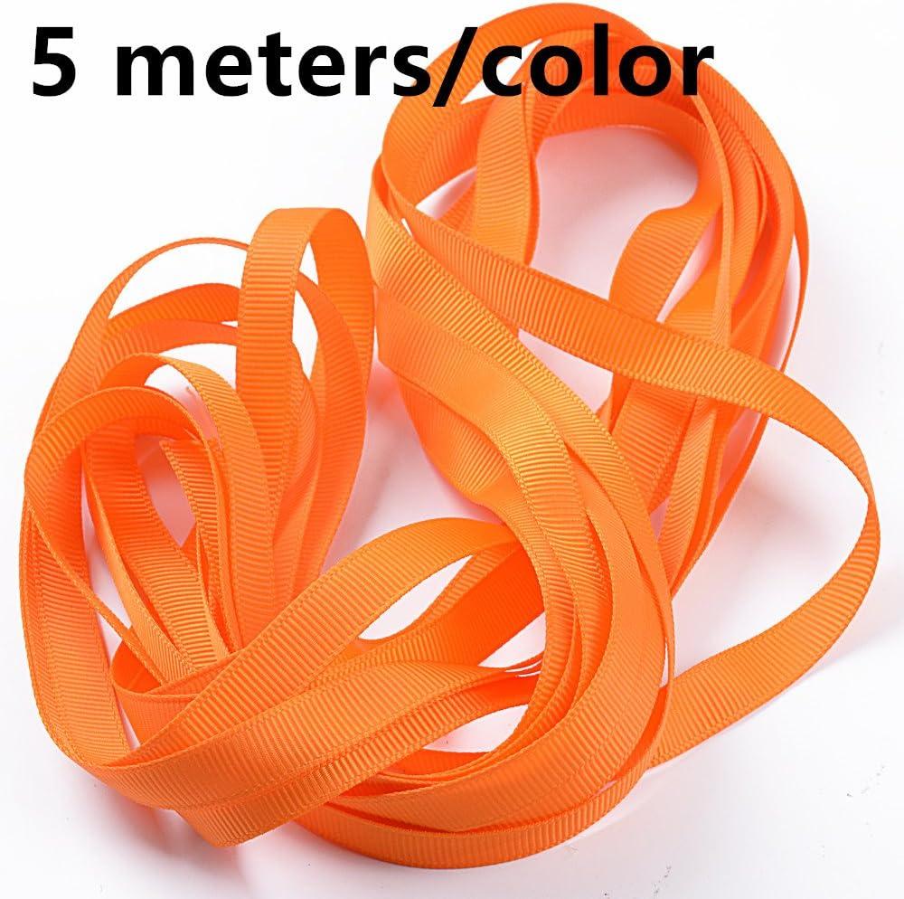 insgesamt 5,5m Orange und Gelb Stoffbänder Bastelset