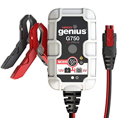 NOCO Genius G750 6V/12V .75 Amp Battery Charger and Maintainer: Automotive