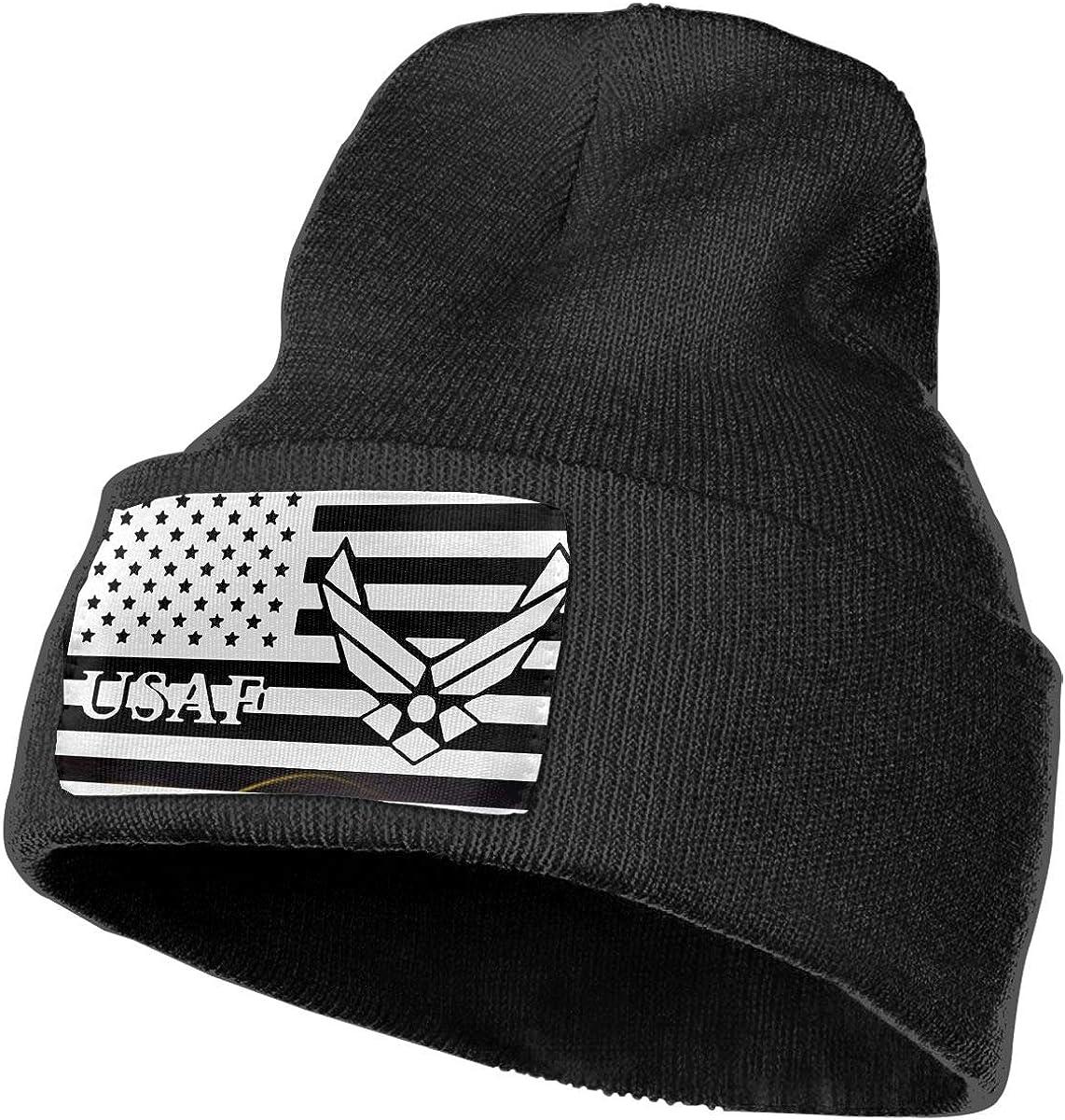 US American Flag Air Force USAF DFKD JKFD Unisex 3D Knitted Hat Skull Hat Beanie Cap