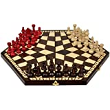 Wooden Three Player Chess - 18.5""