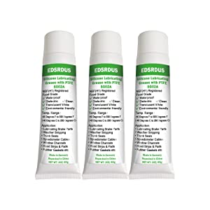 F Edsrdus Food Grade Silicone Grease SG02A with PTFE O-Ring Lubricant Faucet Leak Proof Multi-Functional Dielectric Seal Out Moisture Oil Resistant 3OZ(85g) x3 Pack