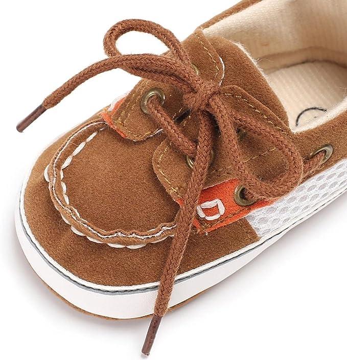 Chaussures b/éb/é,Xinan Chaussures Gar/çon Fille Cuir Souple Automne Chaussures Mode Marine, 12~18 M