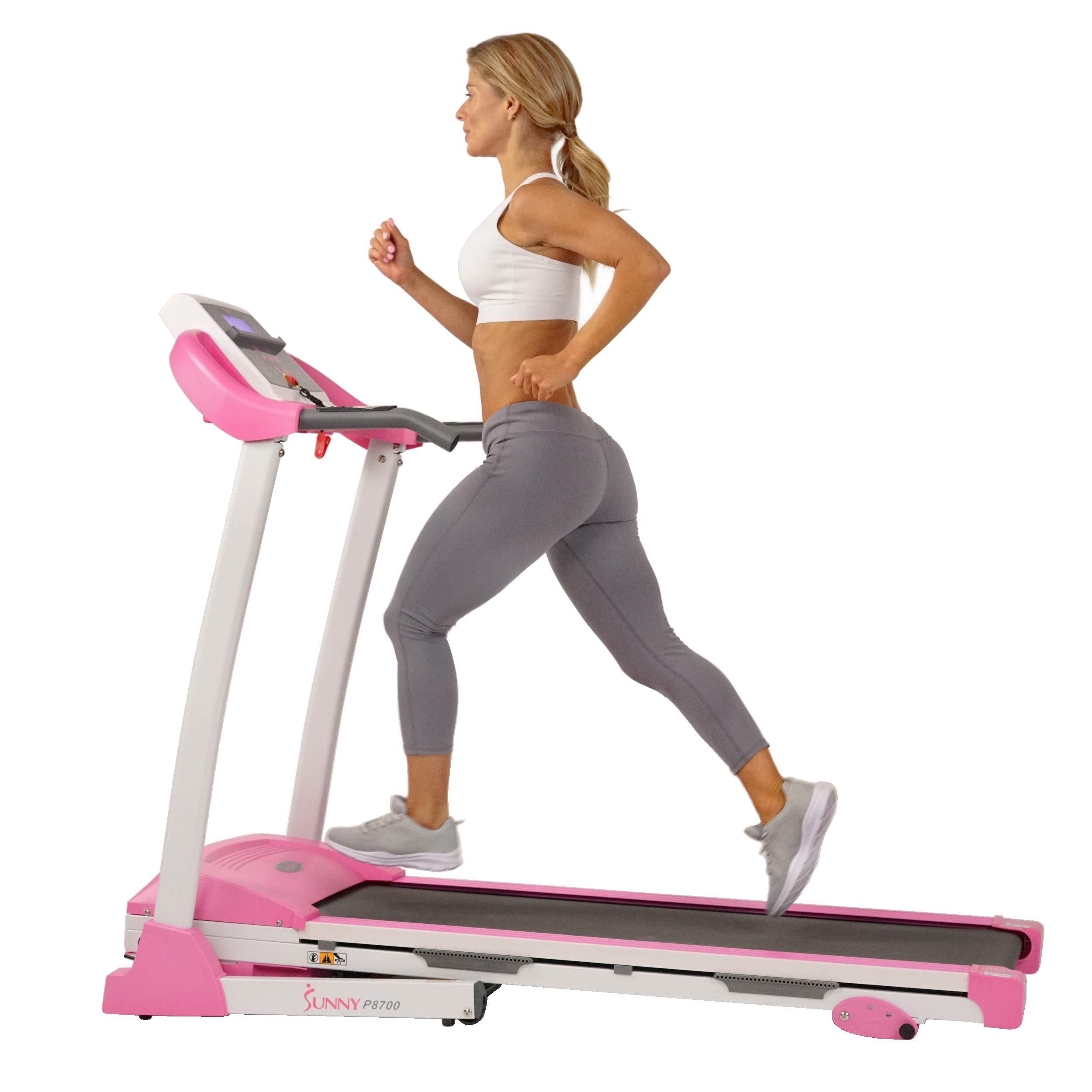 Sunny Health & Fitness P8700 Pink Treadmill by Sunny Health & Fitness (Image #3)