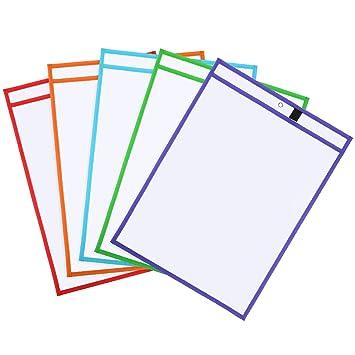 5 Stück Bürobedarf Wiederverwendbare Trocken Löschen Taschen ...