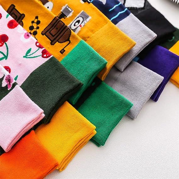 BHYDRY Medias de algodón transpirables Calcetines de algodón de moda Casual Medias Raya: Amazon.es: Ropa y accesorios