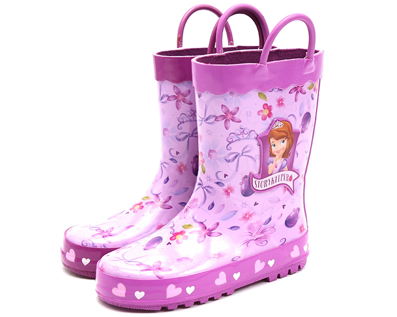 Joah Store Girls Purple Rain Boot Shoes Sofia The First Story Keeper (Parallel Import/Generic Product) (7 M US Toddler)