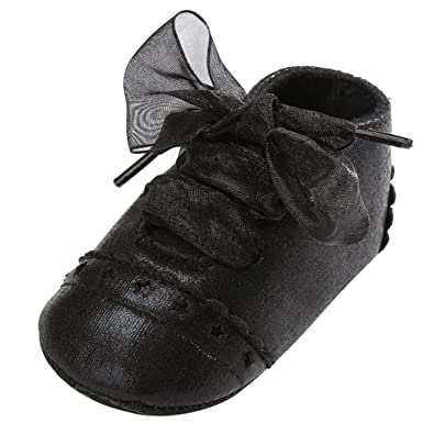 48101e7cb6e Voberry Baby Girl Boys Lace Up Sneakers Soft Soled Anti-Slip Toddler Shoes  (12