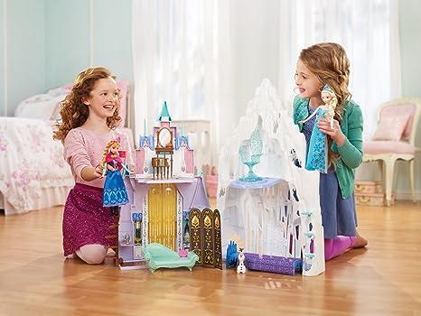 disney princesse maison de poupe la reine des neiges chteau et palais de glace delsa et anna amazonfr jeux et jouets