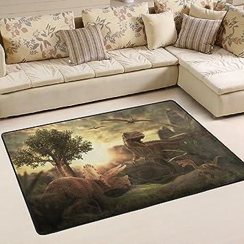 Woor Super Rutschhemmender GIANT Dinosaurier 3D Bereich Teppiche/Boden  Matte/Bezug Teppiche Mit Kleine