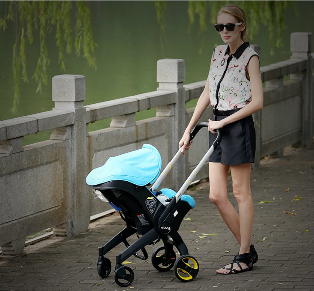 2015 New High Landscape Baby Stroller 3-in-1 Baby Stroller (Pink) by Hot Mon (Image #3)