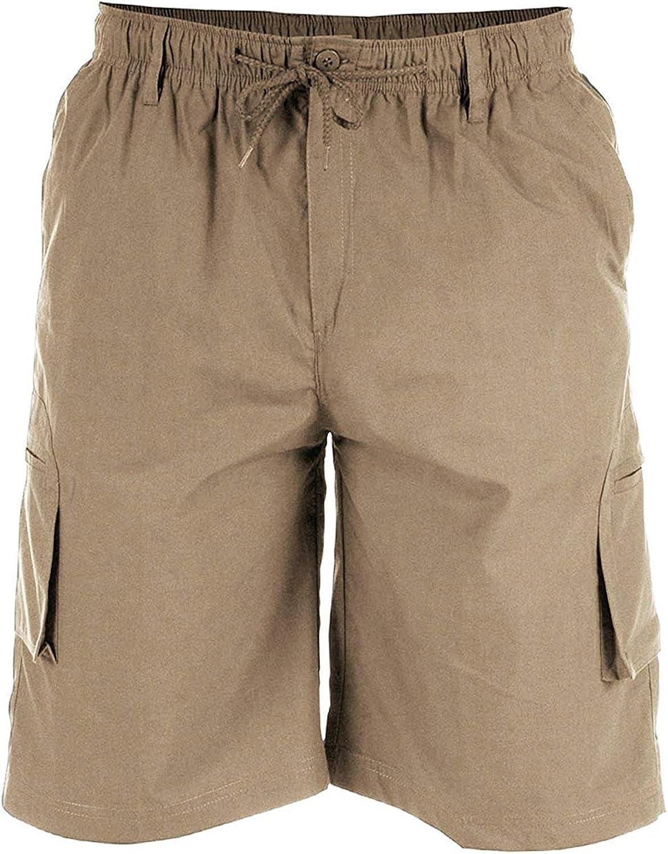 Duke - Pantalones cortos con diseño de bolsillos en la pierna, para hombre