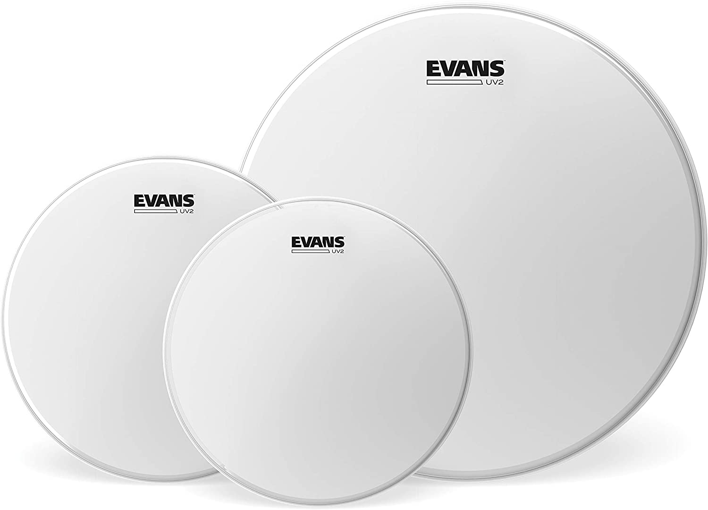 Evans UV2 - Pack de parches de tom rugosos, Rock (10