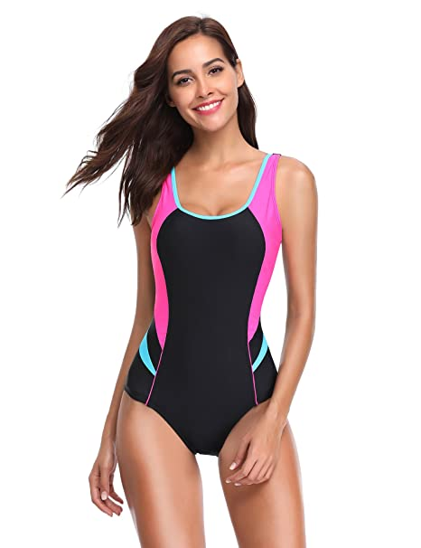 Amazon.com: lalavava para mujer traje de baño de una pieza ...