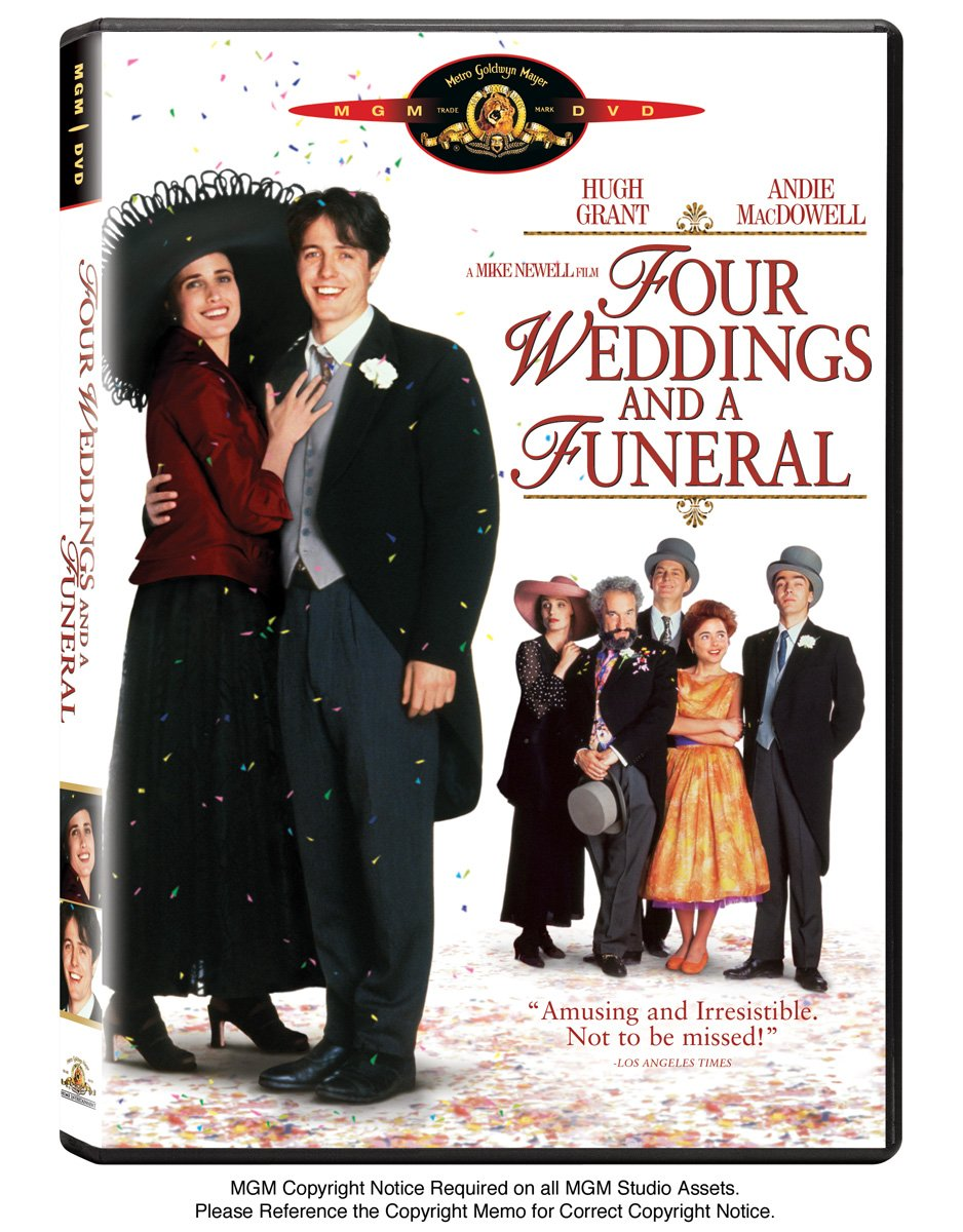 Amazon Four Weddings And A Funeral Hugh Grant Andie MacDowell James Fleet Simon Callow John Hannah Kristin Scott Thomas David Bower