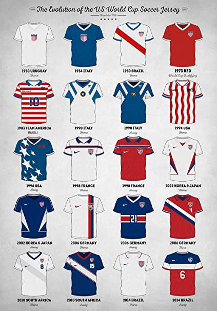 pretty nice 1856a 437aa Amazon.com: Zapista The Evolution of The Us World Cup Soccer ...