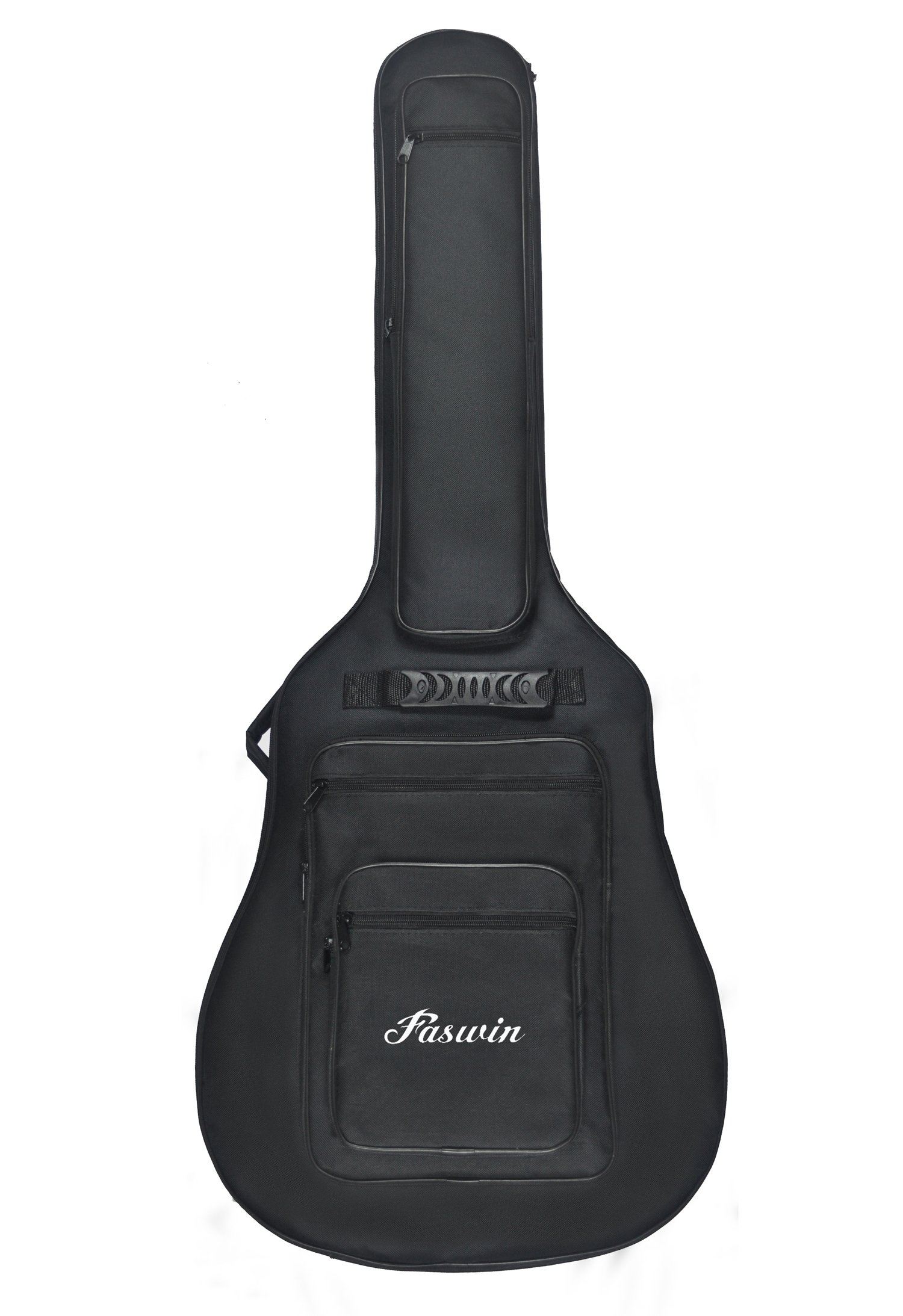 Faswin 41 Inch Acoustic Guitar Padded Gig Bag with 6 Pockets, Pick Sampler and Guitar Strap by Faswin