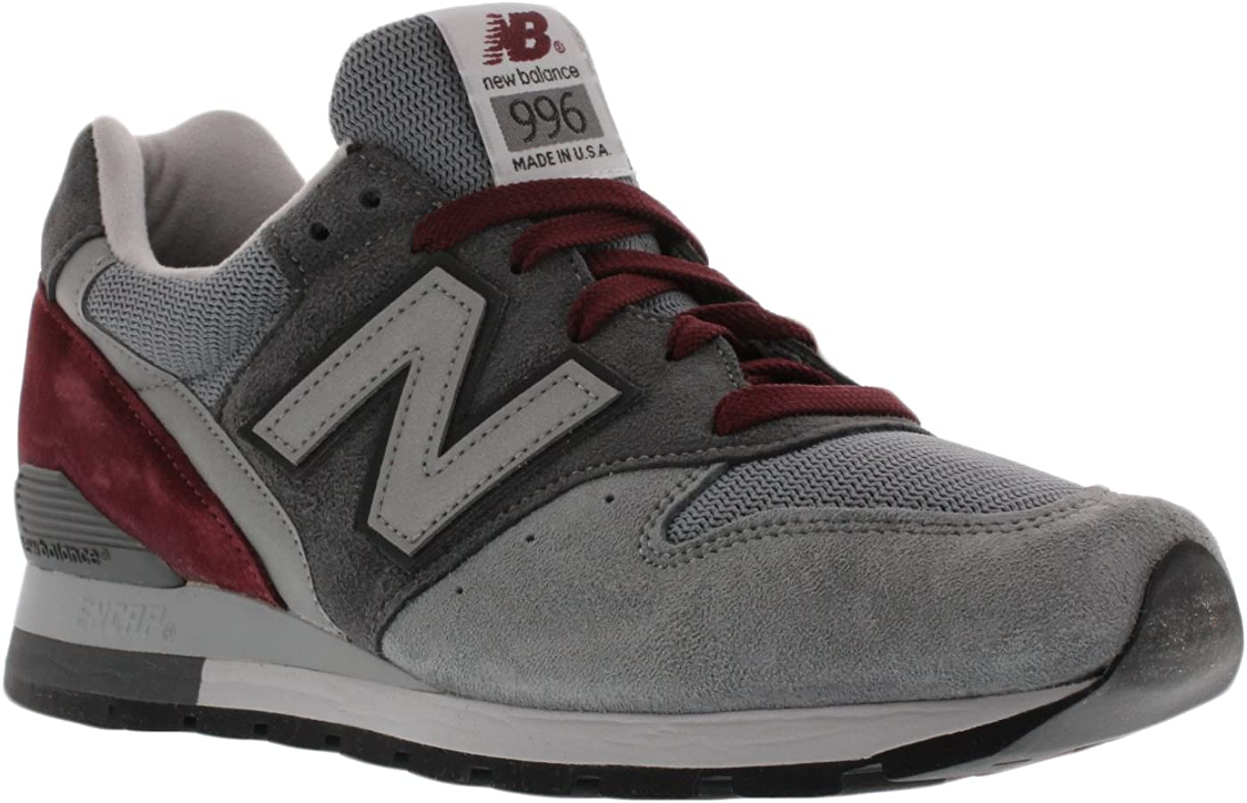 new balance 996 grey burgundy
