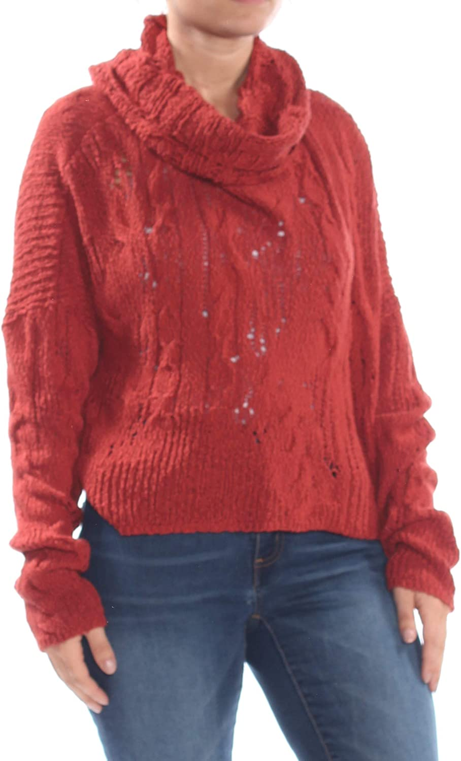 Free People Womens Shades of Dawn Pullover Sweater