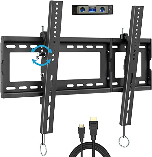 BLUE STONE Tilt TV Wall Mount Bracket, Mounting Bracket for Most 32-80 Inches LED, LCD, OLED, Plasma Flat Screen, Curved TVs, Fits 16 , 18 , 24 Studs, UP to 600 VESA 165LBS Tilting Mount, Low Profile