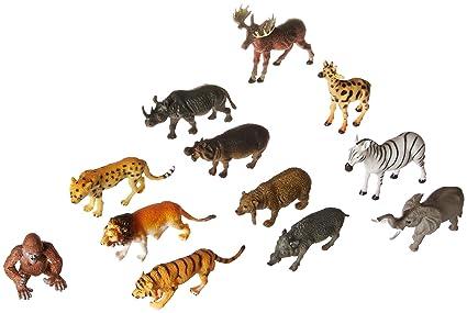 Amazon Com Rhode Island Novelty 12 Zoo Safari Animal Figures