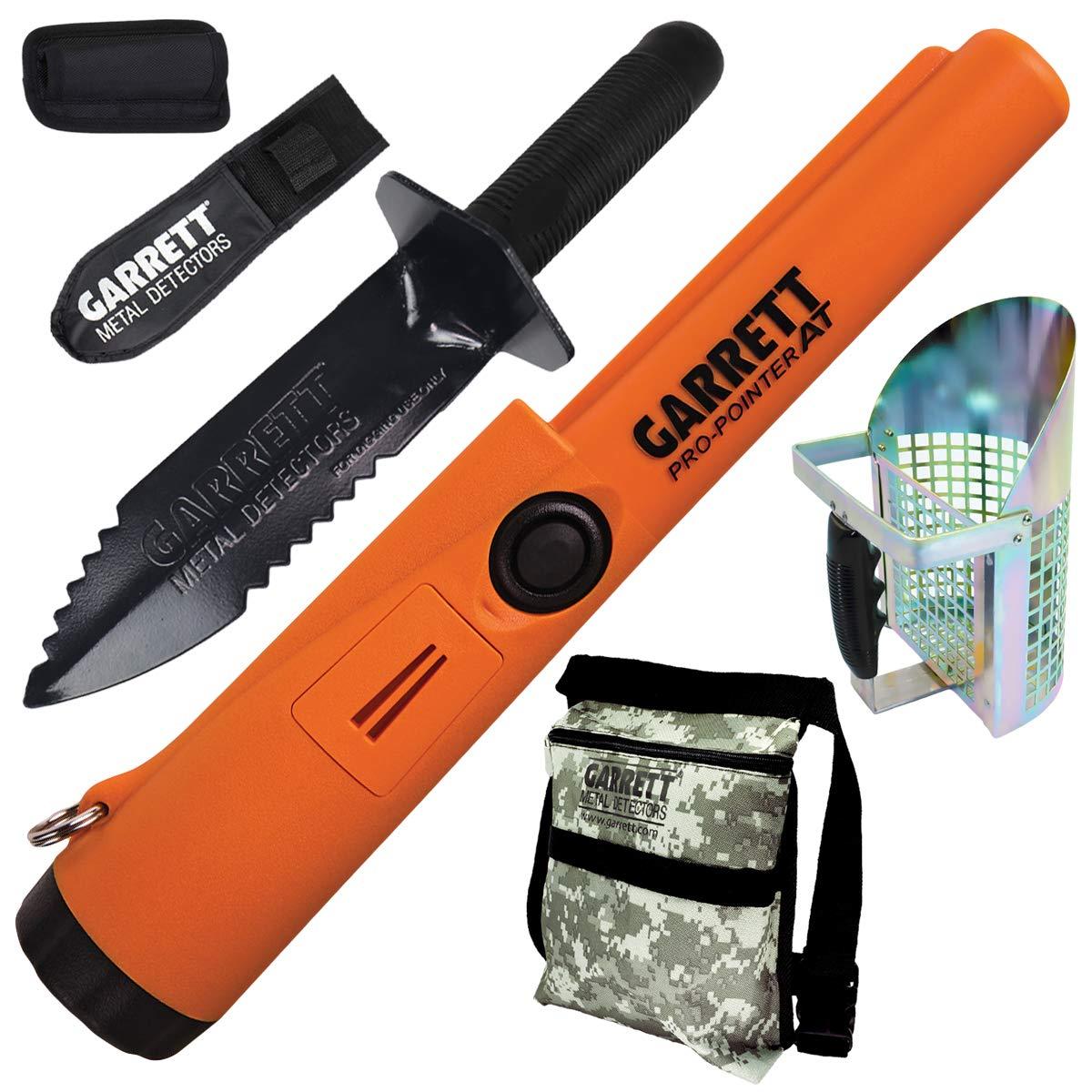 Amazon.com : Garrett Propointer AT + Garrett Edge Digger + Garrett Metal Scoop + Garrett Camo Diggers Pouch : Garden & Outdoor