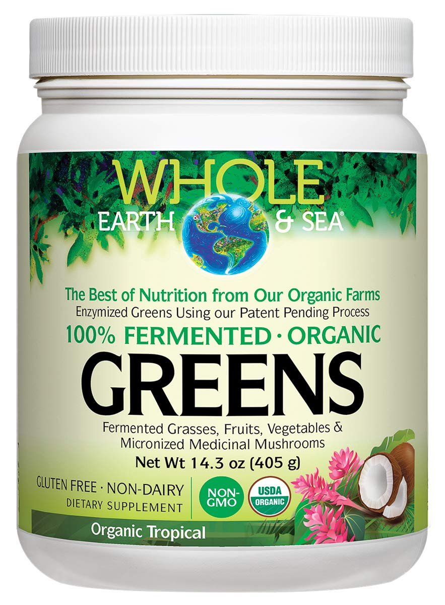 Amazon.com: Natural Factors - Whole Earth & Sea Fermented Greens Unflavored, 13.8 Ounce: Health & Personal Care
