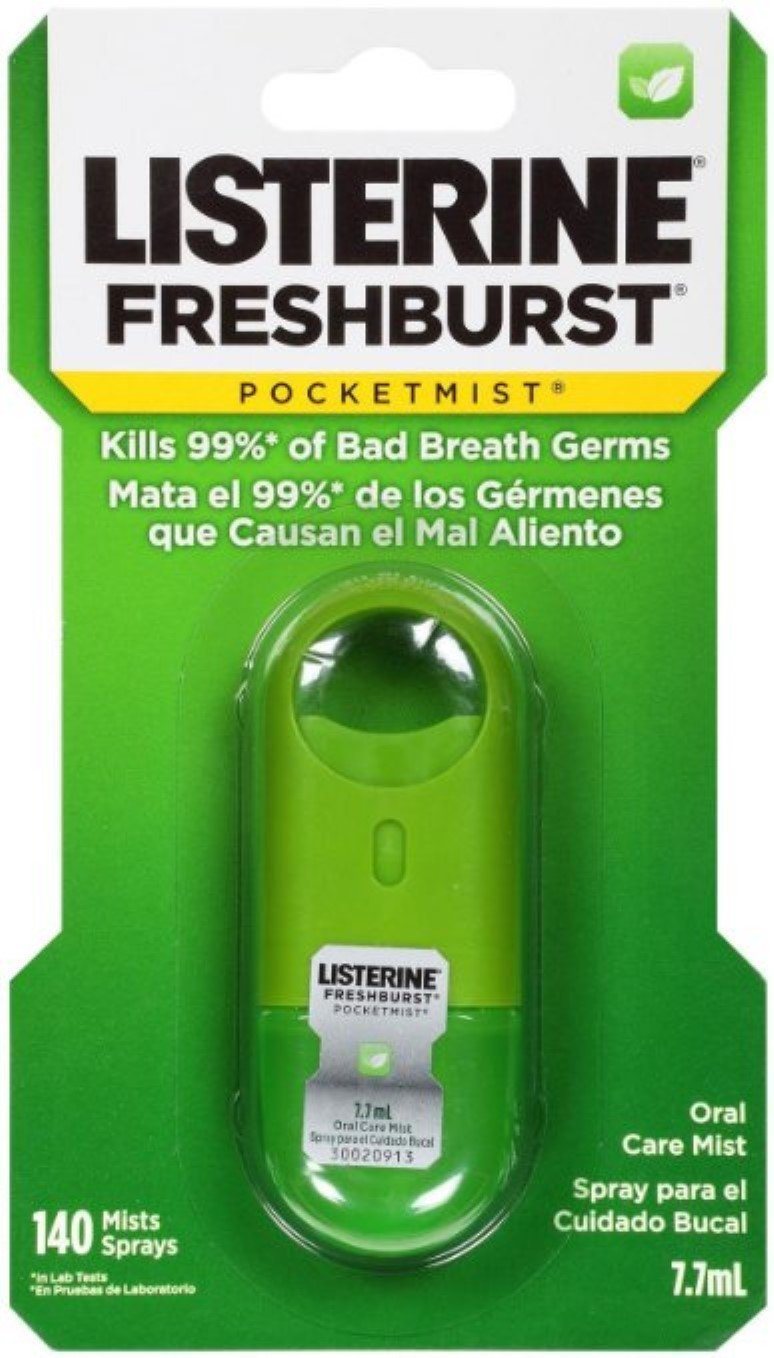 Listerine PocketMist Oral Care Mist, Freshburst 7.7 mL (Pack of 6)