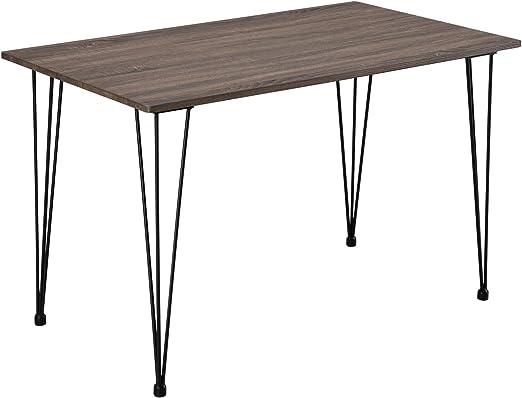 Mesa de Comedor de diseño Hairpin, 120 x 70 cm, Mesa de Cocina de ...