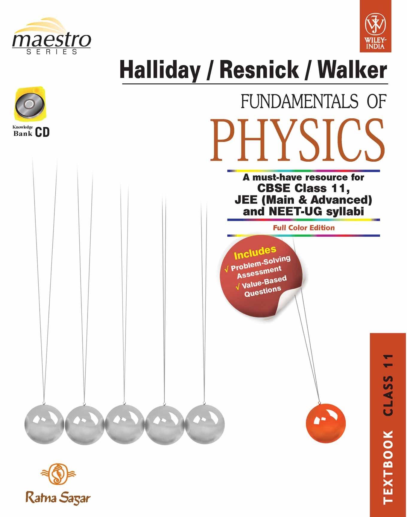Buy Fundamentals Of Physics Class 11 (Textbook, Practice