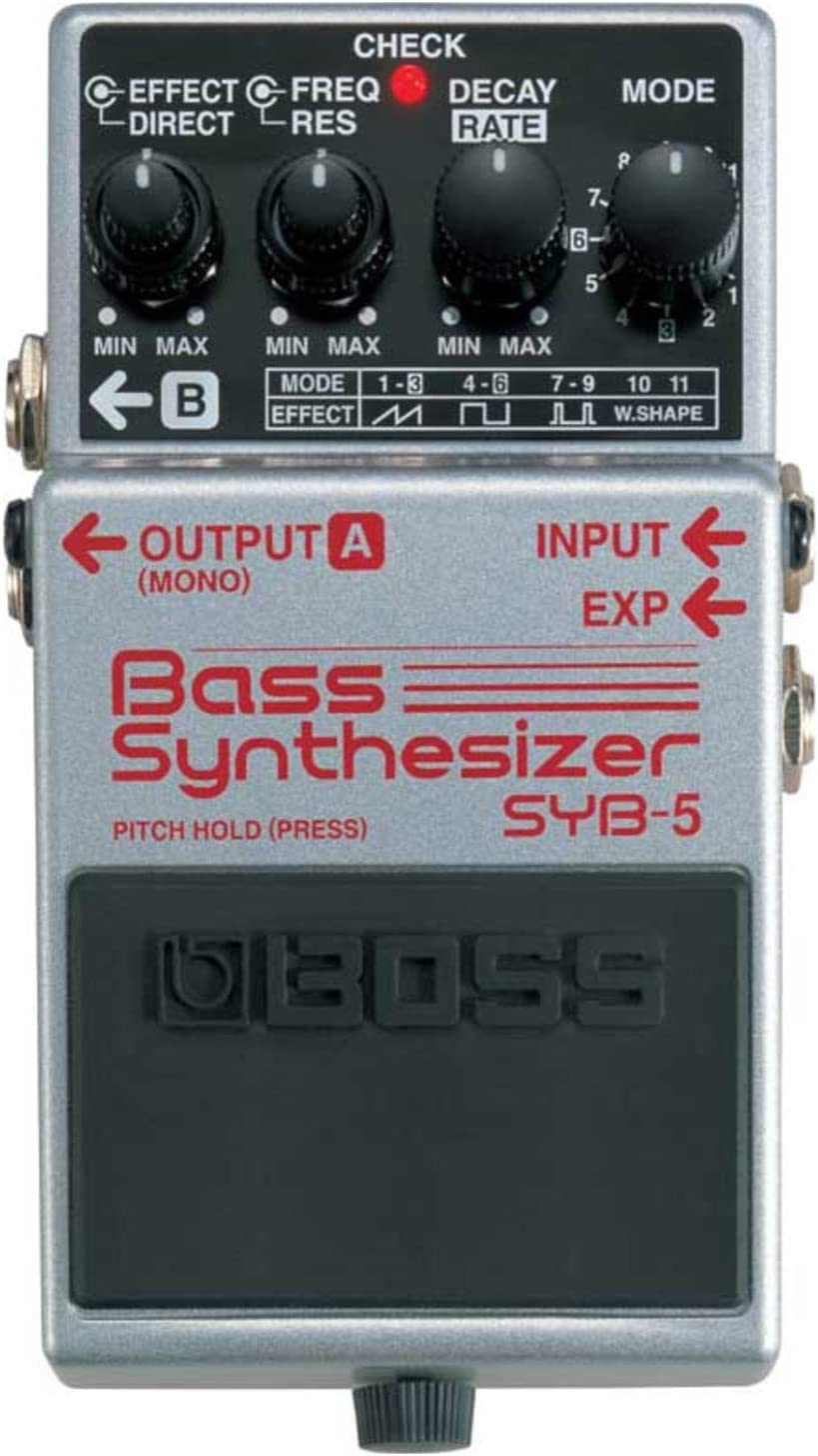 BOSS SYB-5 Bass Synthesizer Pedal Bundle w//4 Free Cables