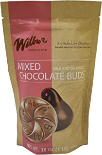 product image for Wilbur Buds Milk & Semisweet Dark Chocolate Buds Mixed, 16 oz. Bag