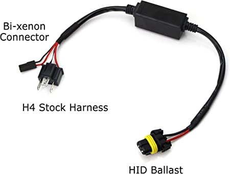 DFYYQ Relais Harness Steuerkabel for H4 Hallo//Lo Bi-Xenon-HID-Lampen Wiring-Controller Size : 12V
