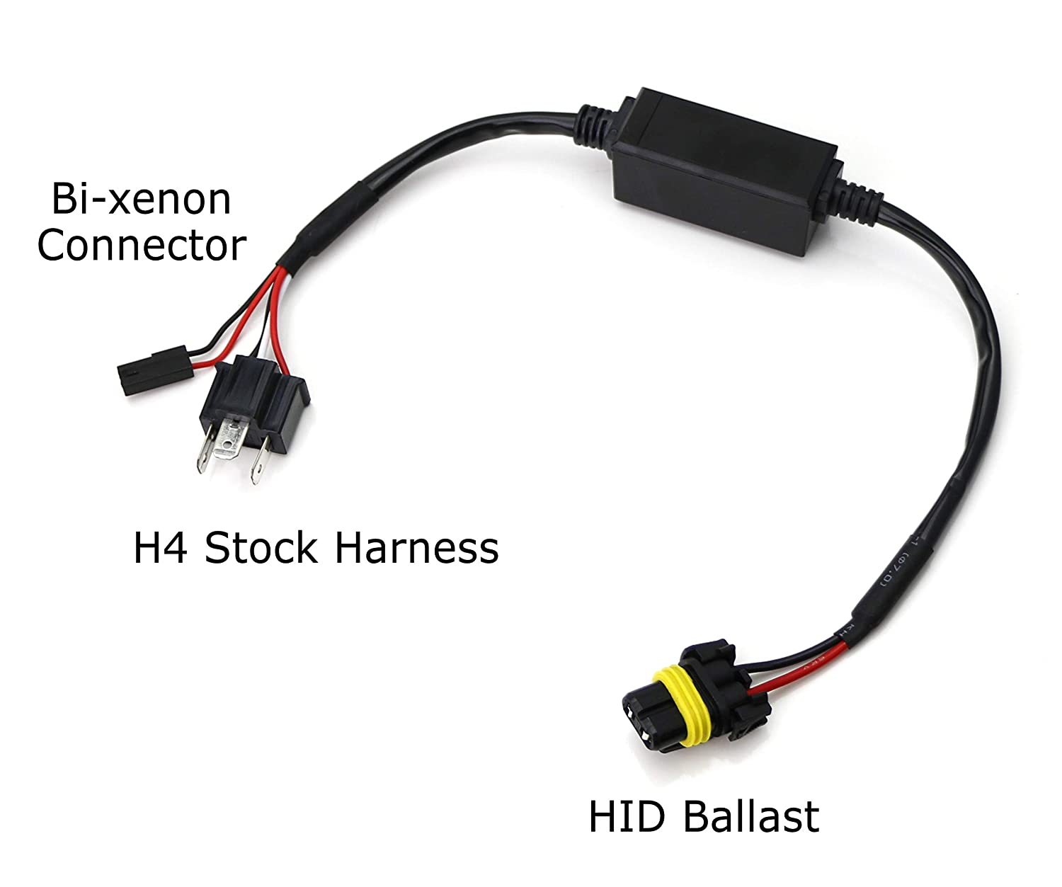 iJDMTOY (2) Easy Relay Harness For H4 9003 Hi/Lo Bi-Xenon Headlight on