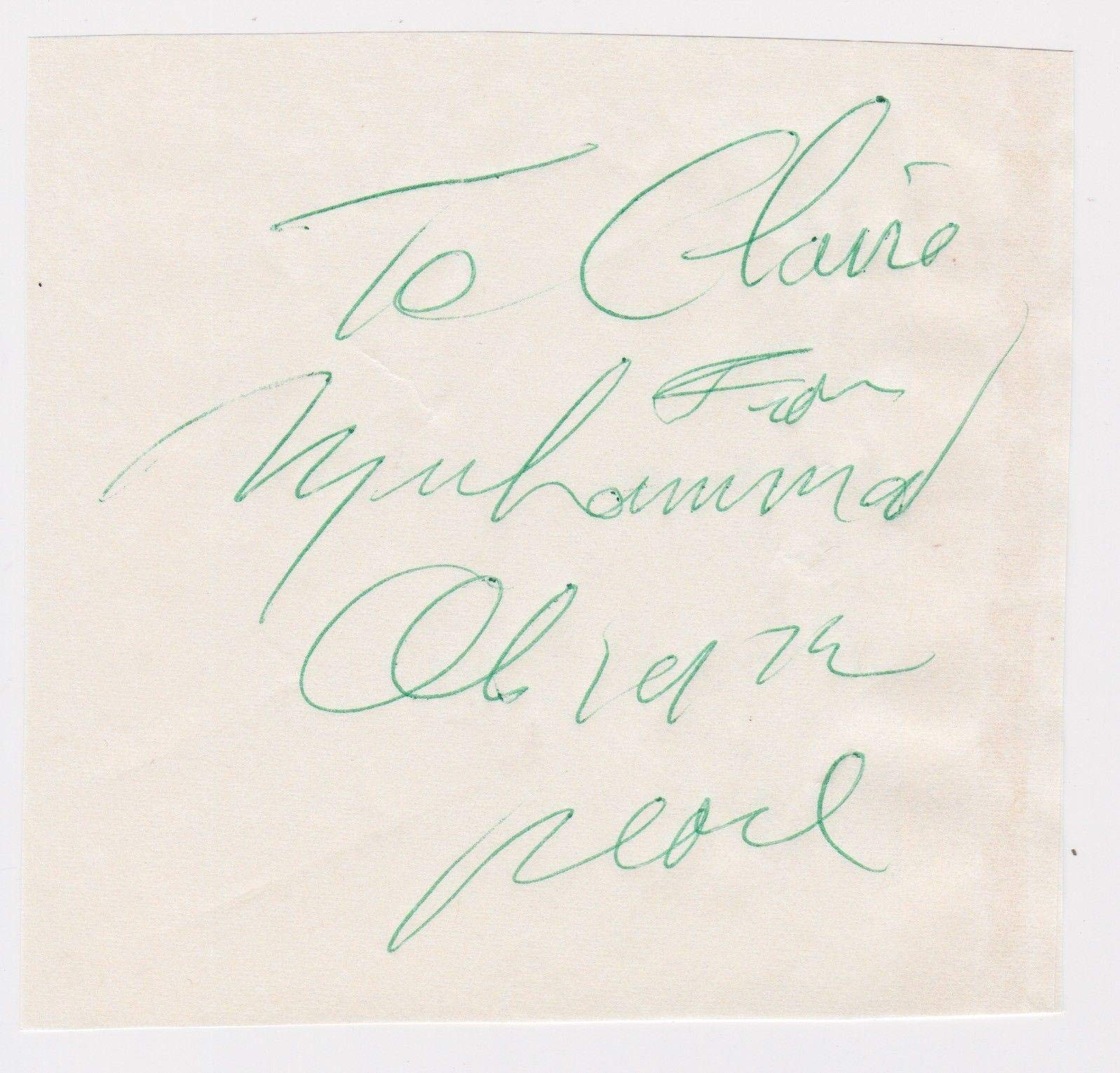 "Muhammad Ali Signed 5""x5"" Paper Cut Signature Inscribed Peace 1979 Letter JSA Certified Boxing Cut Signatures"