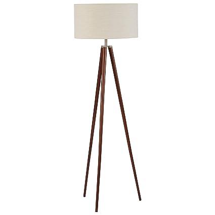 95b9c46cbb36 Stone & Beam Modern Tripod Floor Lamp, With Bulb, Ivory Shade, 19.0 ...
