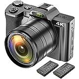 Digital 4K videokamera videokamera Ultra HD 48MP WiFi YouTube Vloggningskamera med vidvinkellins 3,5 tum IPS pekskärm…