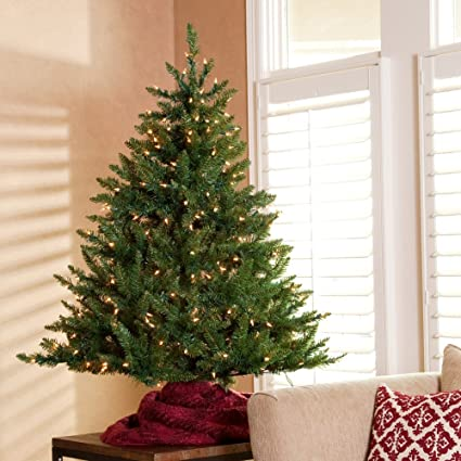 8c21be2f60e Image Unavailable. Image not available for. Color  Classic Tabletop Pre-lit  Christmas Tree ...