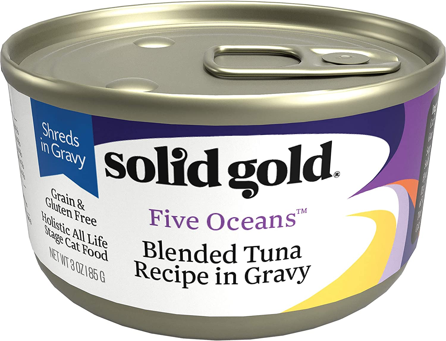 5. Solid Gold Five Oceans Canned Cat Food with Real Tuna in Gravy