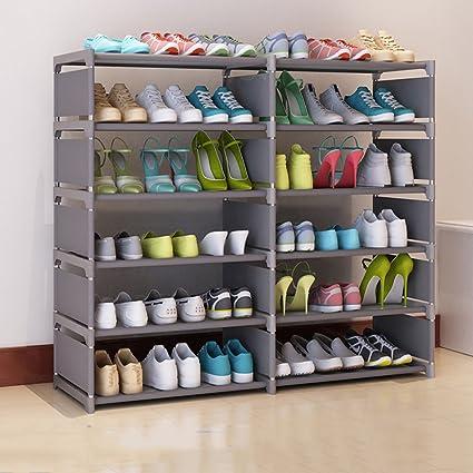 HYLR simple Nivel 6 grande Zapatero Organizador Almacenamiento Gabinete de calzado Inicio caja de almacenamiento sala