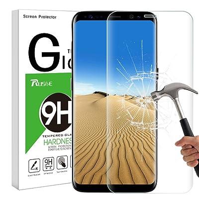 Verre Trempé Galaxy S8 Plus, Protection Écran Galaxy S8 Plus, Rusee Film Protection en Verre Trempé Écran Protecteur Vitre pour Samsung Galaxy S8+ Plus, Ultra Résistant Anti Rayures Sans Bul